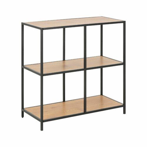 """Trendstore """"Auroa"""" Bücherregal mit einem Boden aus MDF Wildeiche-Nachbildung mit schwarzem Metallgestell"""