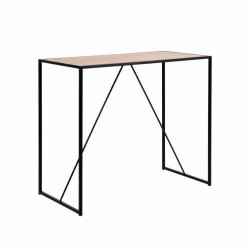 """Trendstore """"Auroa"""" Bartisch mit Tischplatte aus MDF Wildeiche-Nachbildung mit schwarzem Metallgestell"""