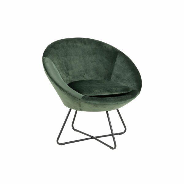 Trendstore Loungestuhl in waldgrün in Seitenansicht