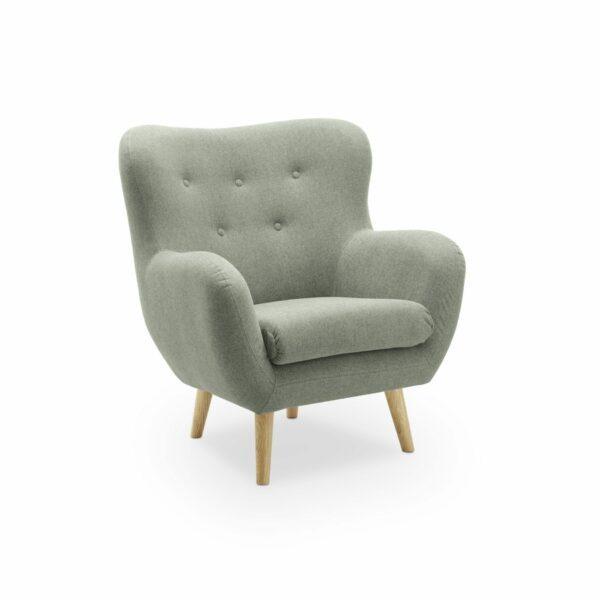 """Trendstore """"Nekra"""" Sessel, dunkelgrün, seitlich"""