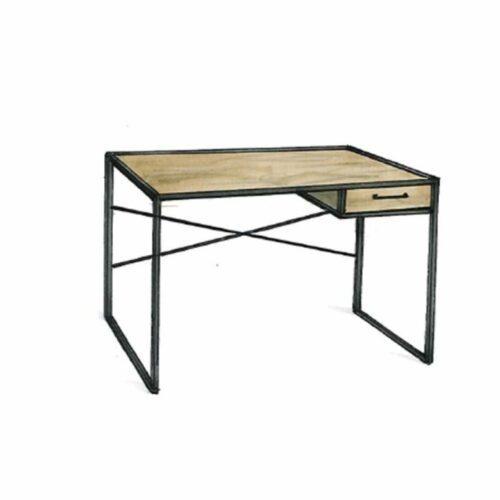 """Trendstore """"Auroa"""" Schreibtisch aus MDF Wildeiche-Nachbildung mit schwarzem Metallgestell"""