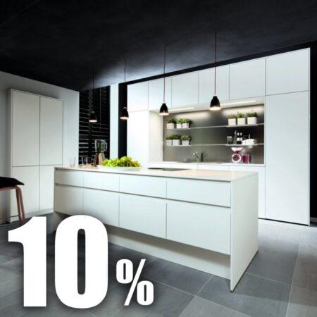 10 % Rabatt auf Küchen mit organischem Glas