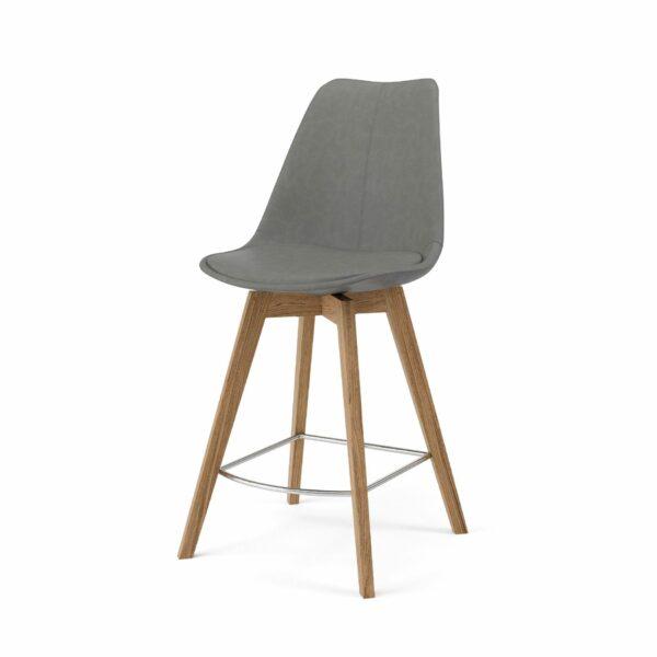 """Trendstore """"C-Bar"""" Stuhl - Sitz und Polsterung grau, Gestell Eiche"""