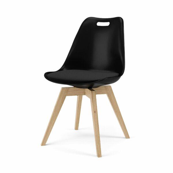 """Trendstore """"C-Bar"""" Stuhl - Sitz und Polsterung schwarz, Gestell Eiche"""