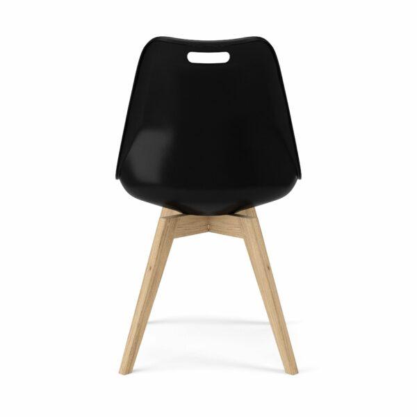 """Trendstore """"C-Bar"""" Stuhl - Sitz und Polsterung schwarz, Gestell Eiche, Rückansicht"""