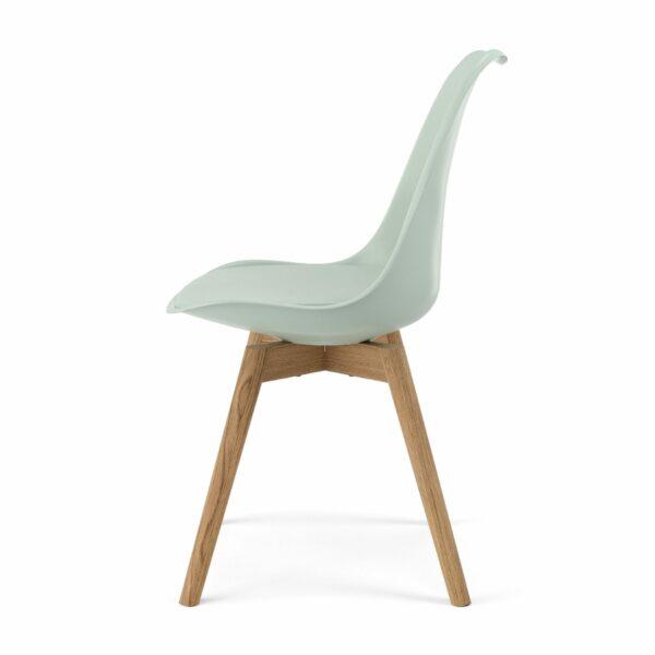 """Trendstore """"C-Bar"""" Stuhl - Sitz und Polsterung Salvia, Gestell Eiche, Seitenansicht"""