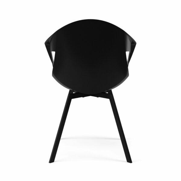 """Trendstore """"C-Bar"""" Stuhl - Sitz schwarz, Polsterung grau, Gestell Eiche, Rückansicht"""