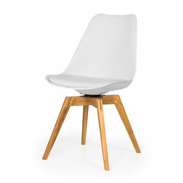 """Trendstore """"C-Bar"""" Stuhl - Sitz und Polsterung weiß, Gestell Eiche"""