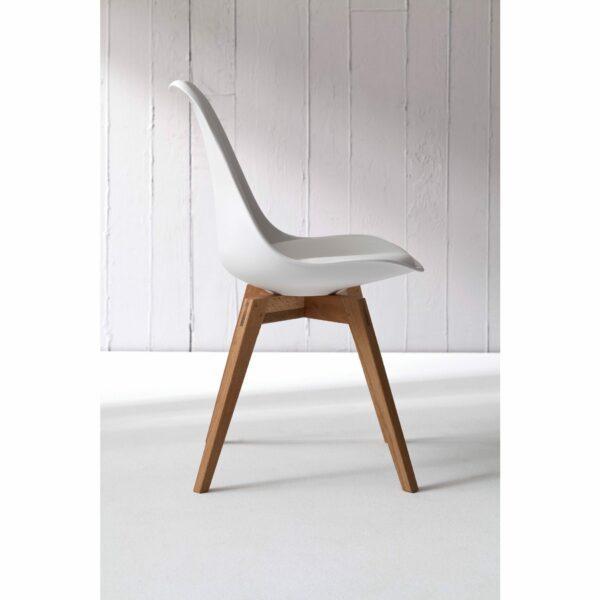 """Trendstore """"C-Bar"""" Stuhl - Sitz und Polsterung weiß, Gestell Eiche, Impression"""