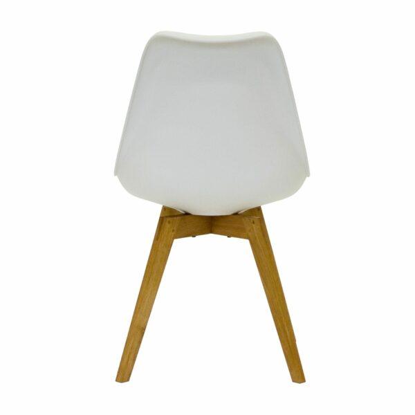"""Trendstore """"C-Bar"""" Stuhl - Sitz und Polsterung weiß, Gestell Eiche, Rückenansicht"""