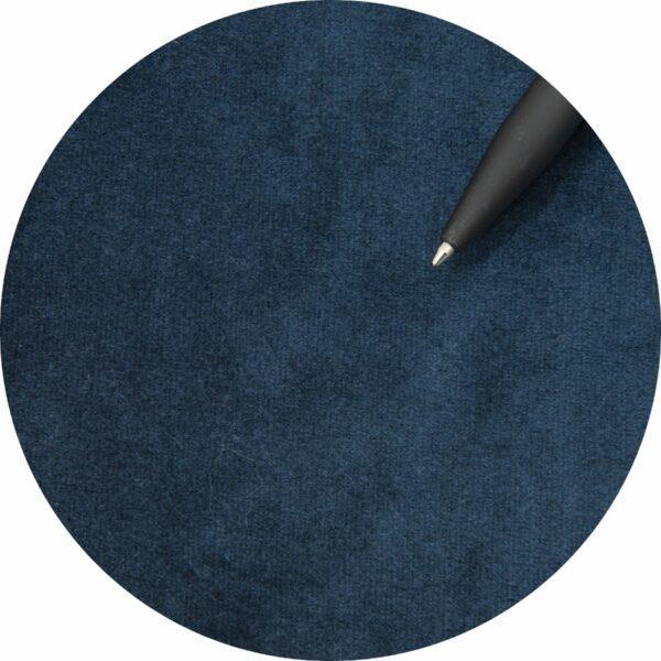 """Trendstore """"Lex"""" Stuhl, Sitz Velour nachtblau, Gestell aus Metall schwarz - Nahaufnahme Bezug"""
