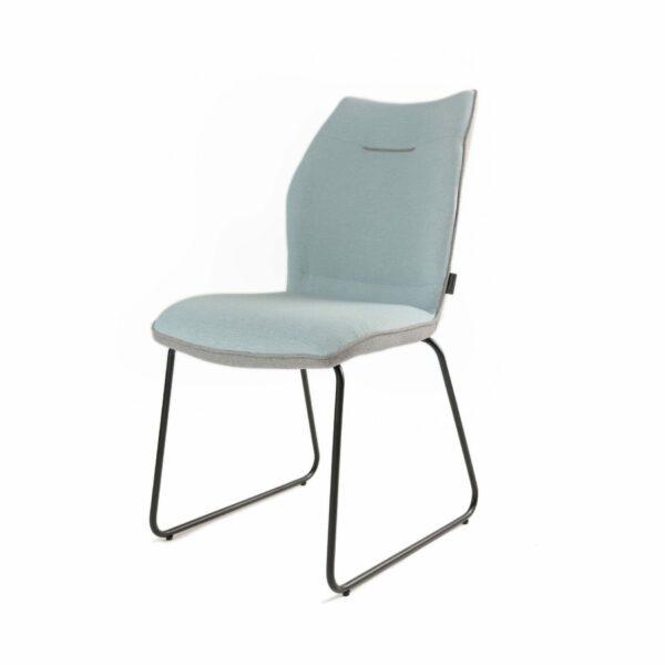 Trendstore Stuhl Mae in Hellblau mit grauer Rückseite