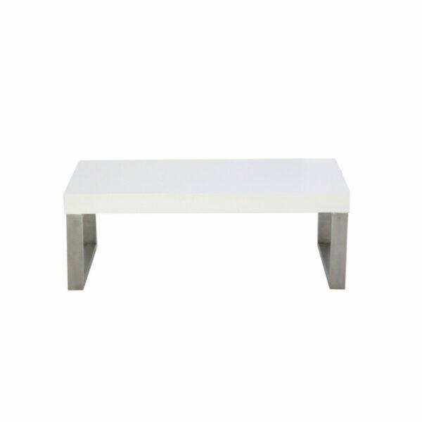 """Trendstore """"Malvan"""" Couchtisch in Weiß, mit einer Breite von 110 cm in Frontal-Ansicht."""