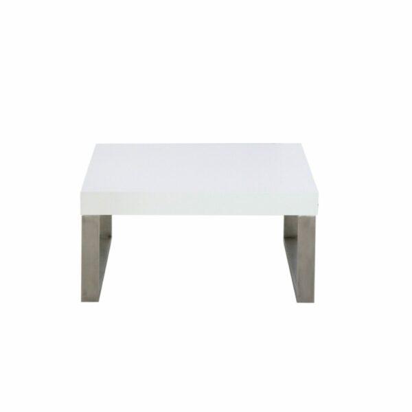 """Trendstore """"Malvan"""" Couchtisch in Weiß, mit einer Breite von 80 cm in Frontal-Ansicht."""