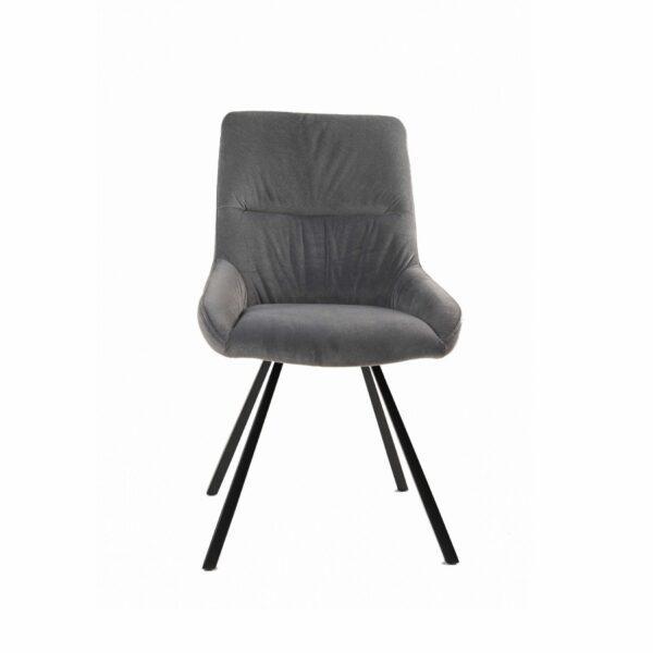Trendstore Stuhl Melissa mit schwarzem Metallgestell