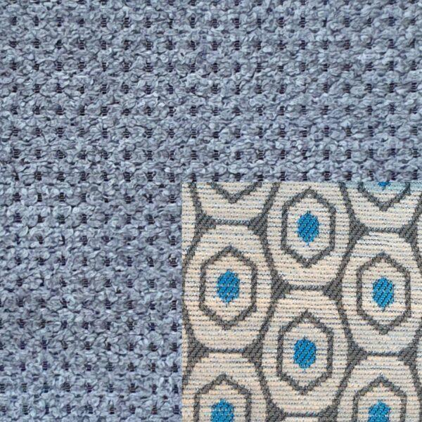 Webstoff Paris 20933 grau mit Rückenkissen Macao 02 grau.
