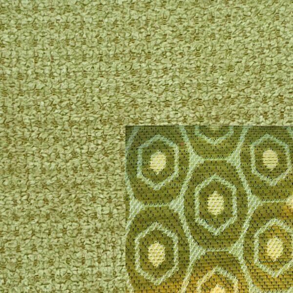 Webstoff Paris 20951 grün mit Rückenkissen Macao 14 grün.