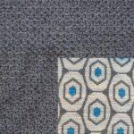Webstoff Paris 20997 dunkelgrau mit Rückenkissen Macao 02 grau.
