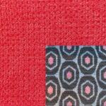 Webstoff Paris 21093 rot mit Rückenkissen Macao 01 anthrazit.