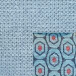 Webstoff Paris 21547 blau-grau mit Rückenkissen Macao 03 hellblau.