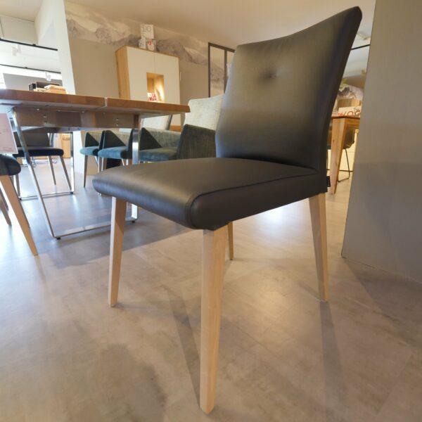 Musterring Piazza 8 Stühle - Stuhl ohne Armlehnen, Bezug aus Leder anthrazit