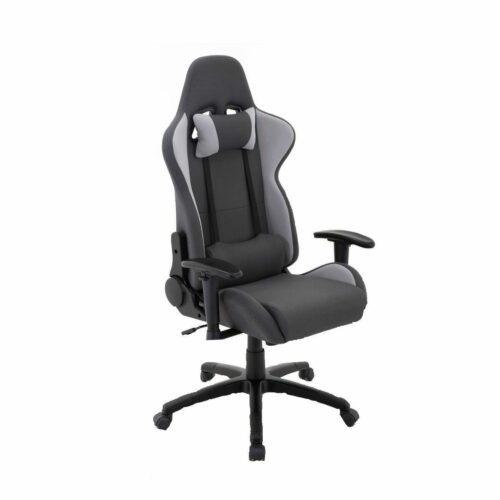"""Trendstore """"Qbiz 100535"""" Sitz und Rücken aus Stoff in 100 % Polyester in Farbe dunkelgrau und hellgrau und das Gestell in Hartkunststoff in schwarz mit Gaslift und stufenlose Sitzhöhenverstellung und Neigungsverstellung"""
