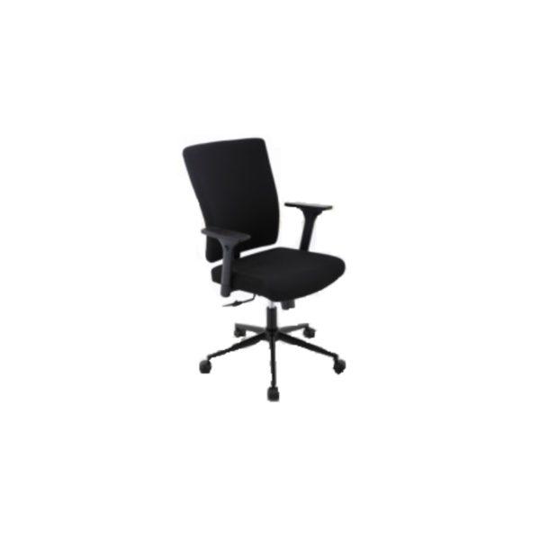 """Trendstore """"Qubiz 100533"""" Stoffbezug aus 100 % Polyester in Farbe schwarz und das Gestell in Metall pulverbeschichtet schwarz mit Gaslift und stufenlose Sitzhöhenverstellung und Neigung"""