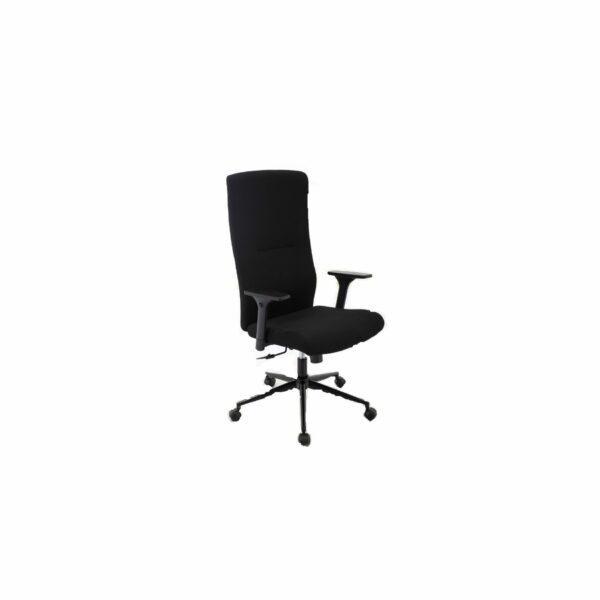 """Trendstore """"Qubiz 100534"""" Stoffbezug aus 100 % Polyester in Farbe schwarz und das Gestell in Metall pulverbeschichtet schwarz mit Gaslift und stufenlose Sitzhöhenverstellung und Neigung"""
