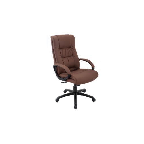 """Trendstore """"Qubiz 100536"""" Microfaserstoff aus 100 % Polyester in Farbe dunkelbraun und das Gestell in Hartkunststoff in schwarz mit Gaslift und stufenlose Sitzhöhenverstellung und Neigung"""