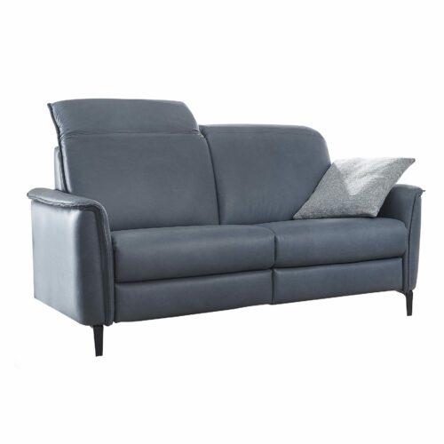 Akador Bolivien Sofa 2,5-Sitzer in Leder dunkelblau