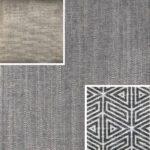 Akador Nürburg Elementgruppe - Sofa Textilgewebe Karma 721 grau, Kissen Textilgewebe Karma 721 grau, Karma 720 beige, Samsara 734 abstrakt schwarz