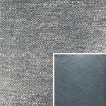 Akador Venezuela Elementgruppe - Sofabezug aus Textilgewebe Longlife Magic frost, Kissen aus Leder Longlife E touch steel