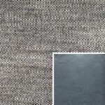 Akador Venezuela Elementgruppe - Sofabezug aus Textilgewebe Longlife Magic latte, Kissen aus Leder Longlife E touch steel