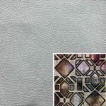 Akador San Andreas Elementgruppe - Sofabezug aus Leder stone, Kissenbezug aus Textilgewebe diamant bordeaux