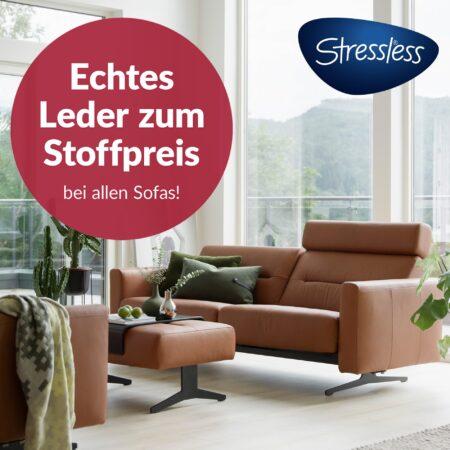 Stressless®-Ledersofa zum Stoffpreis