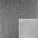 Akador Colombia Elementgruppe - Sofabezug aus Textilgewebe Q2 Natura platin, Kissen aus Leder Longlife E soft eis