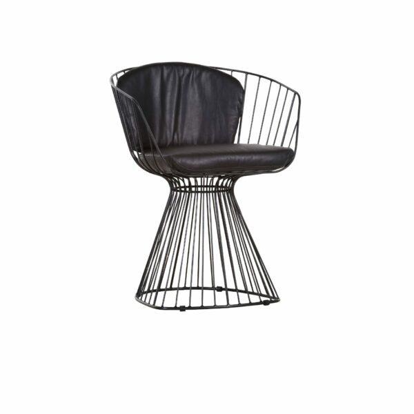 Trendstore Esszimmerstuhl Grady mit schwarz lackiertem Gestell