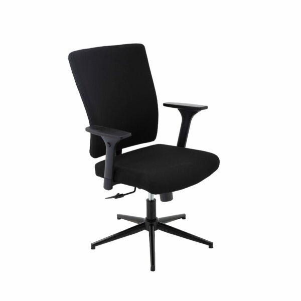 Trendstore Qbiz Bürostuhl mit niedriger Rückenlehne und ohne Hartbodenrollen
