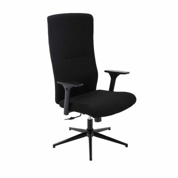 Trendstore Qbiz Bürostuhl mit hoher Rückenlehne und ohne Hartbodenrollen