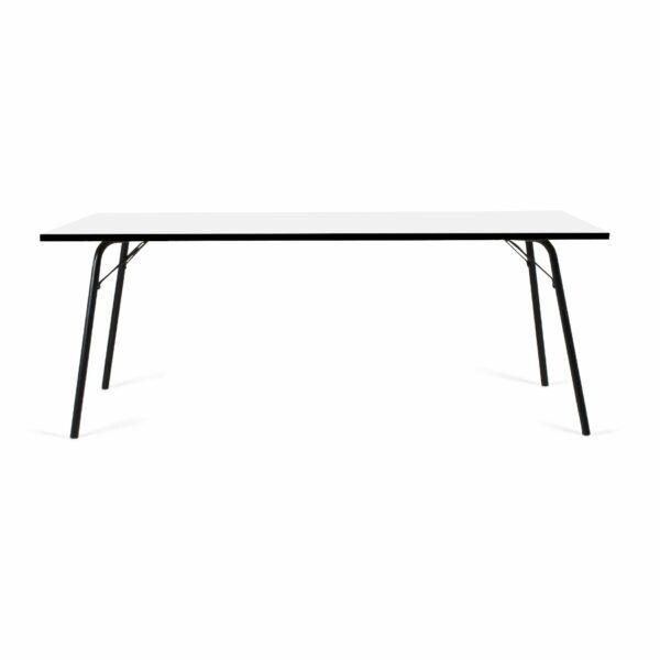 Trendstore Tine Tisch perlweiß Gestell schwarz