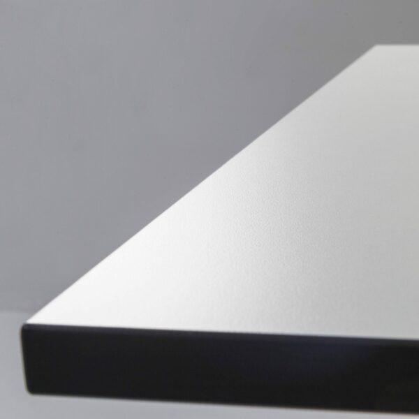 Trendstore Tine Tisch perlweiß Gestell schwarz - Detail Ecke