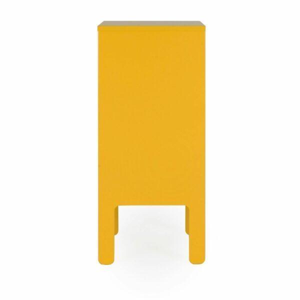 Trendstore Uno Kommode 1-türig senf - seitlich