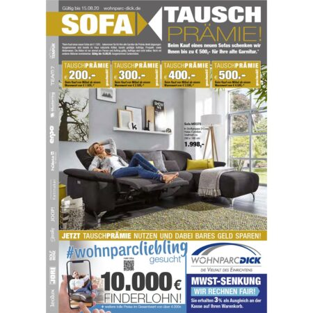 Sofa-Tausch Prämie bei Möbel DICK