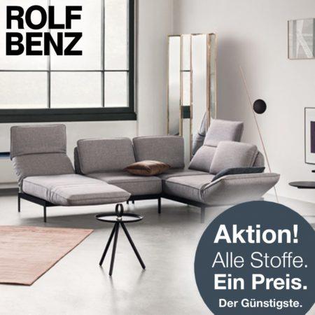 Rolf Benz Sofas: Alle Stoffe, ein Preis!