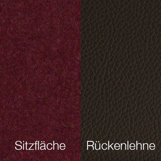 Textilgewebe Future Aubergine (30 % Wolle, 70 % Polyamid) & Leder Tendens Chocolate