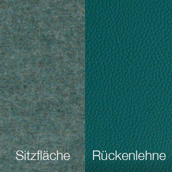 Textilgewebe Future Azure (30 % Wolle, 70 % Polyamid) & Leder Tendens Sea Green