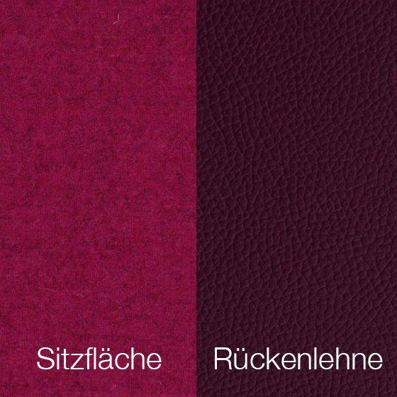 Textilgewebe Future Fuchsia (30 % Wolle, 70 % Polyamid) & Leder Tendens Plum
