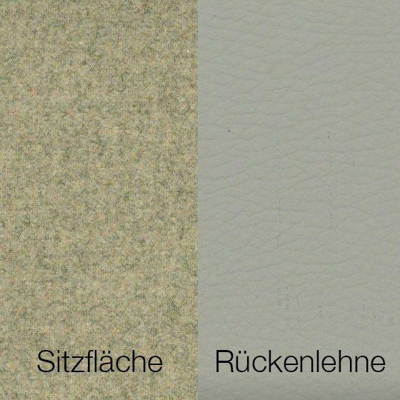Textilgewebe Future Kiezel (30 % Wolle, 70 % Polyamid) & Leder Tendens Kiezel