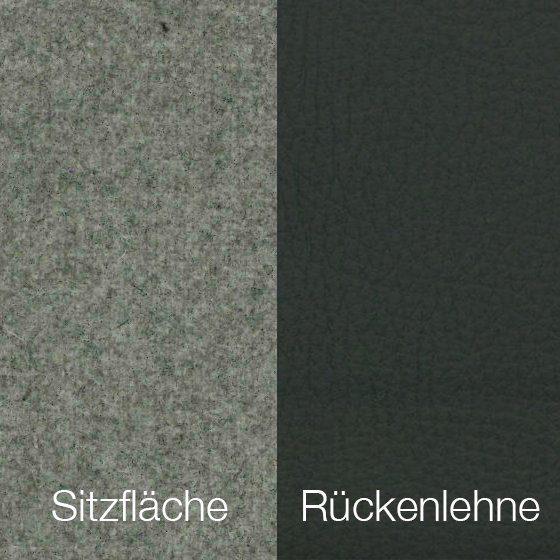 Textilgewebe Future Lightgrey (30 % Wolle, 70 % Polyamid) & Leder Tendens Graniet