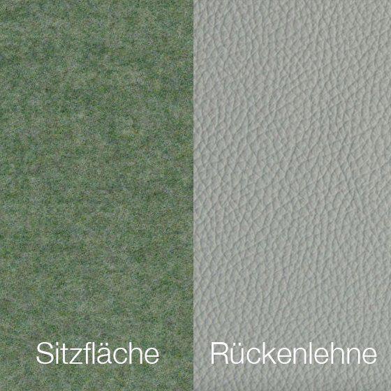 Textilgewebe Future Lightgrey (30 % Wolle, 70 % Polyamid) & Leder Tendens